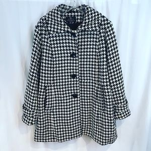 Collections Gallery Woman Houndstooth Coat Wool
